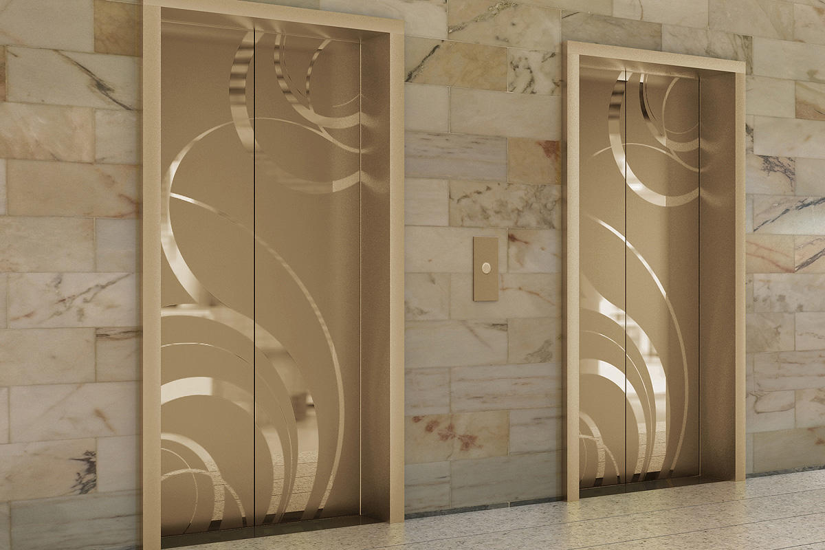 Fused metal elevator doors architectural forms surfaces for Doors and doors