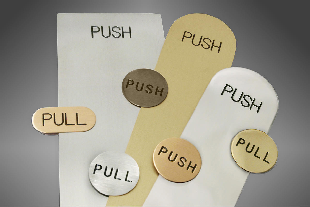 Push Plates Amp Indicator Discs Architectural Forms Surfaces