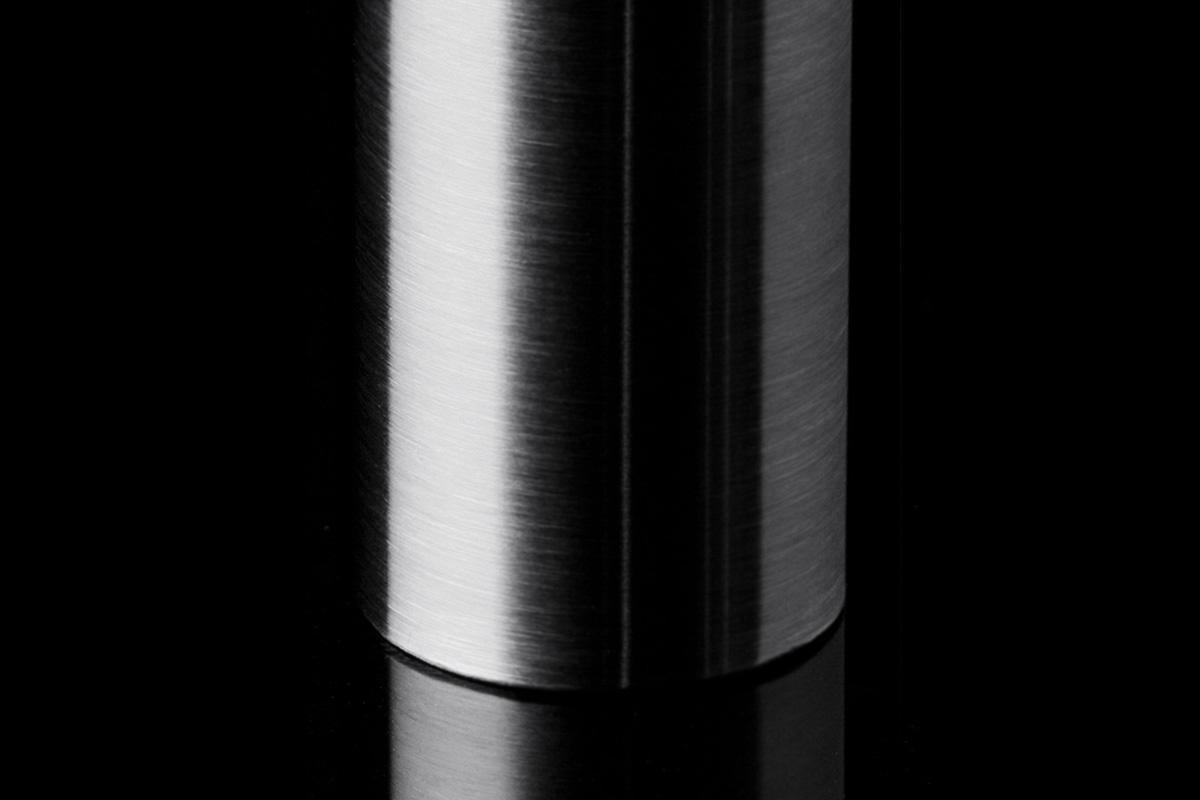 123, Material: Aluminum, Finish: Satin Clear