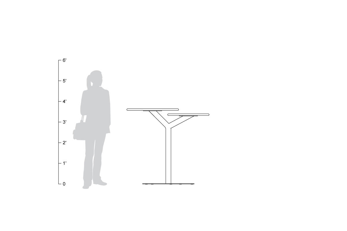 Bistro Table, shown to scale