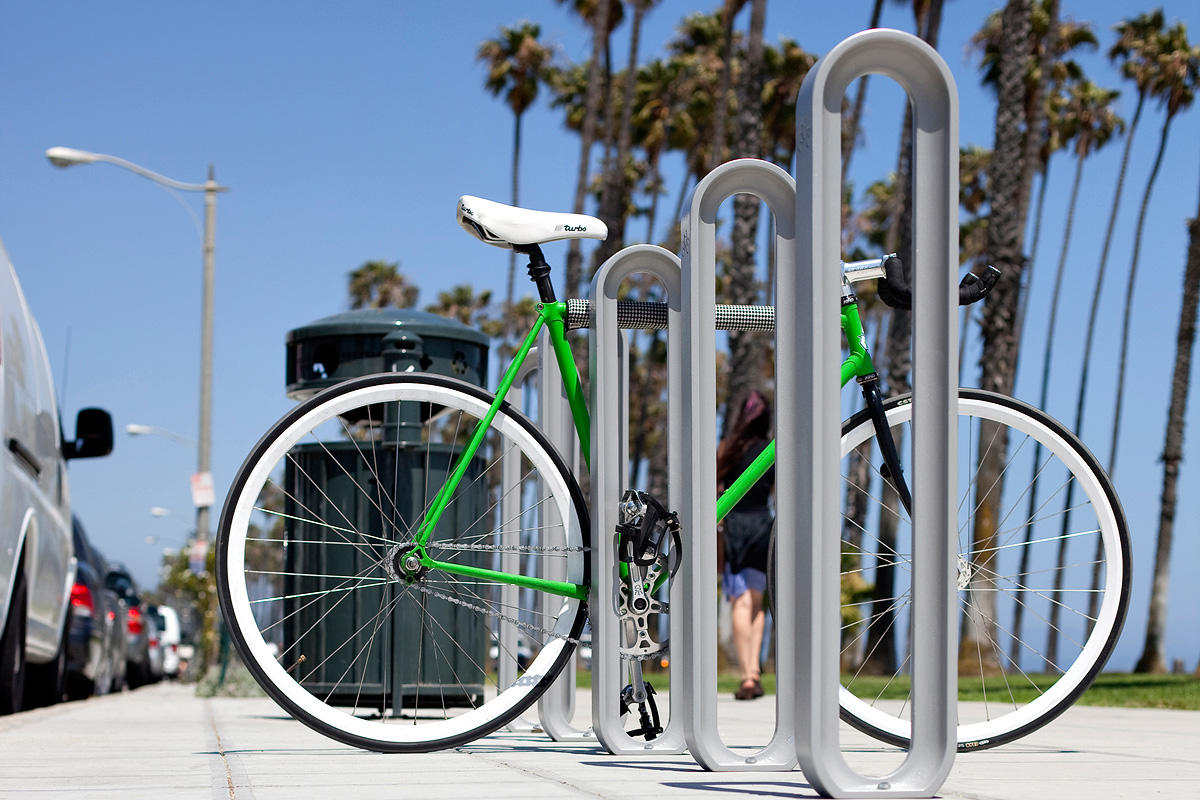 Olympia bike rack outdoor forms surfaces Outdoor bicycle