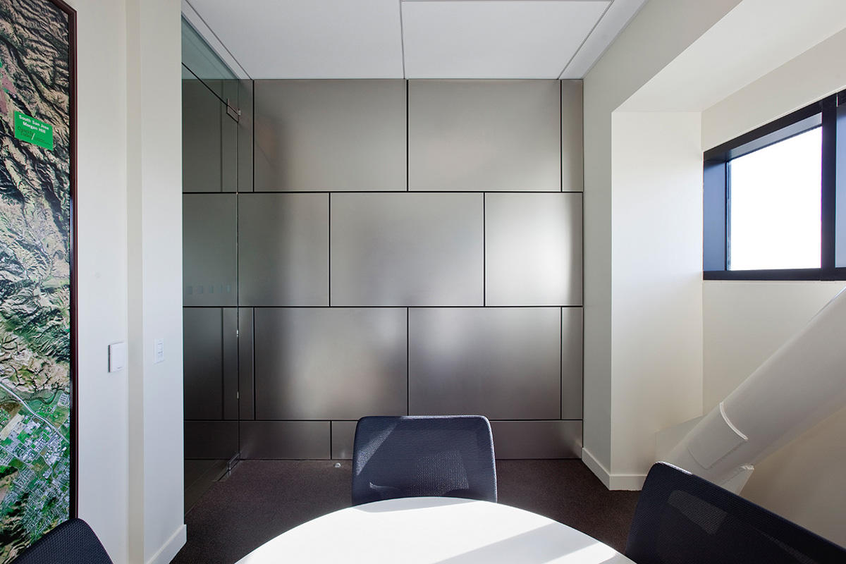 Stainless Steel Wall Cladding : Cassidy turley forms surfaces