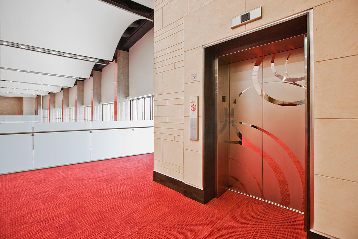 Stainless steel elevator doors architectural forms for Modern elevator design