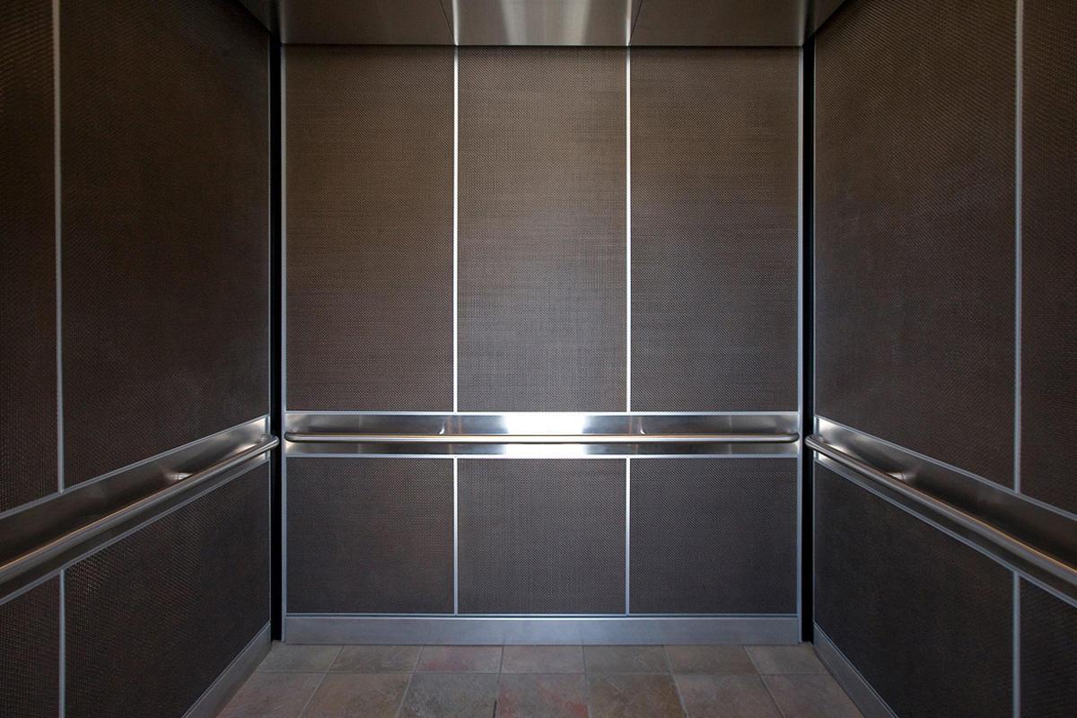 LEVELe-105 Elevator Interior in Bonded Bronze with Dark Patina and ...