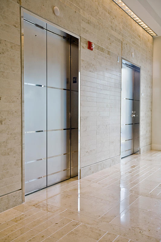 Stainless Steel Elevators : Stainless steel elevator doors architectural forms