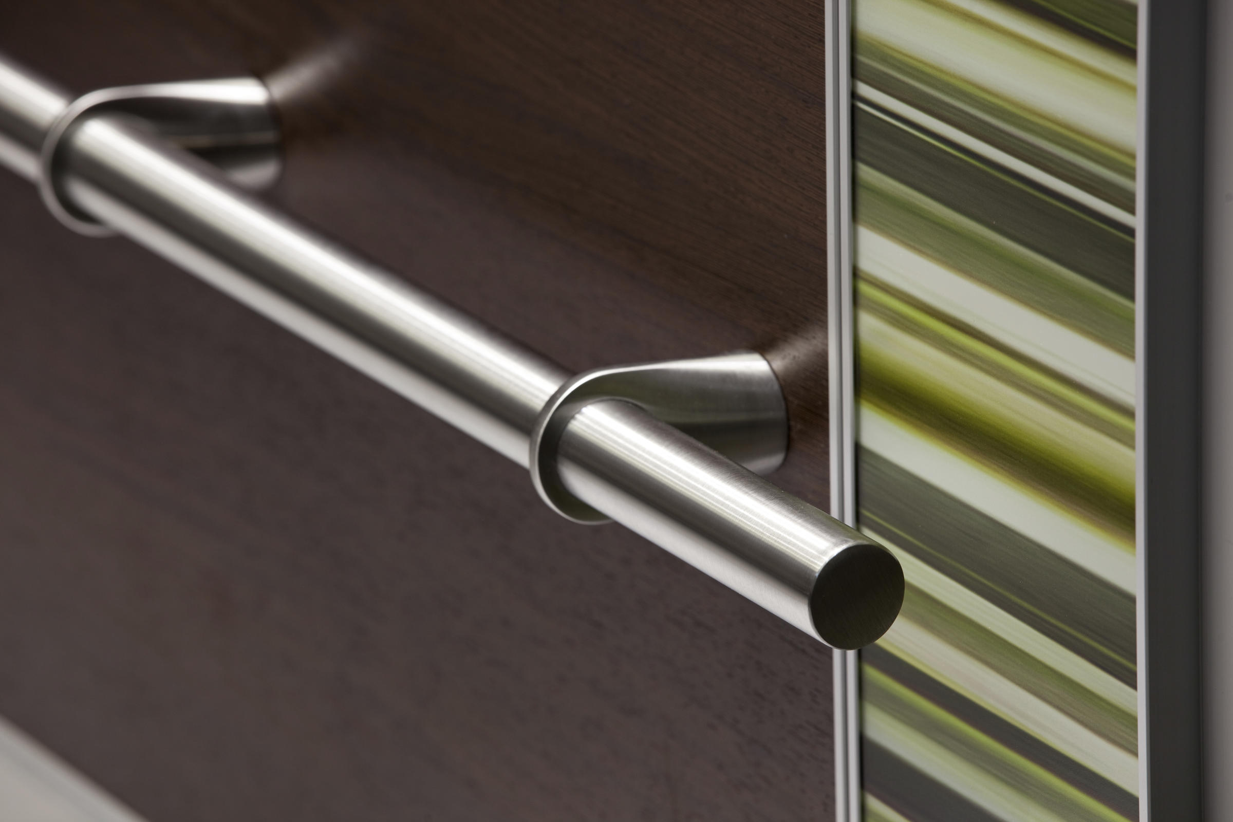 Compass Handrail In Satin Stainless Steel With Ring