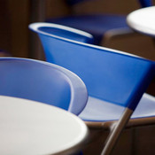 Bantam Chairs shown in Blueberry