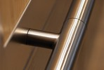 Sextant Handrail with Cylinder finials in Satin Stainless Steel