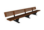 Pacifica Bench, 12 foot, full back, freestanding