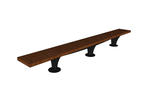 Pacifica Bench, 12 foot, backless, surface mount