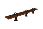 Pacifica Bench, 12 foot, backless, surface mount, three armrests