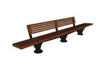Pacifica Bench, 12 foot, short back, surface mount
