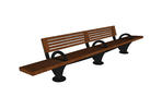 Pacifica Bench, 12 foot, short back, surface mount, three armrests