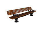 Pacifica Bench, 8 foot, full back, surface mount, two armrests