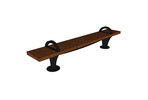 Pacifica Bench, 8 foot, backless, surface mount, two armrests