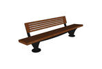 Pacifica Bench, 8 foot, short back, surface mount