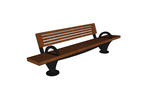 Pacifica Bench, 8 foot, short back, surface mount, two armrests