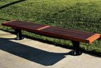 Pacifica Bench, 8 foot, backless, surface mount, FSC 100% Jatoba slats