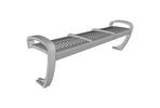 Balance Bench, backless seat with stainless steel finish and two seat dividers