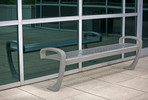 Balance Bench, backless, powdercoated frame, Satin Stainless Steel seat