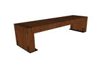 Hudson Bench, 6 foot, surface mount