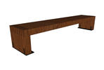 Hudson Bench, 8 foot, surface mount