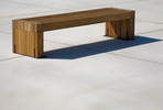 Hudson Bench shown in 6 foot, surface mount, FSC 100% Ipé slats