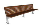Knight Bench, backed, 8 foot