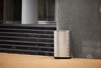 Orbit Litter & Recycling Receptacle, Sandstone Stainless Steel, Scape