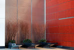 LEVELe Wall Cladding System with Minimal panels in Stainless Steel Sandstone