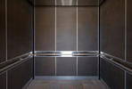 LEVELe-105 Elevator Interior in Bonded Bronze with Dark Patina and Charleston