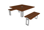 Apex Table Ensemble, two benches