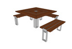Apex Table Ensemble, three-bench ADA option